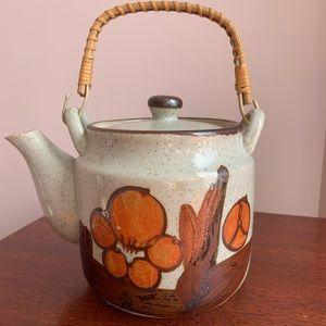 Vintage Japanese Speckled Stoneware Teapot